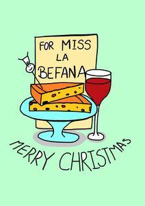 La Befana Cake and Wine