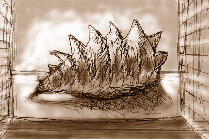 sepia seashell - woz