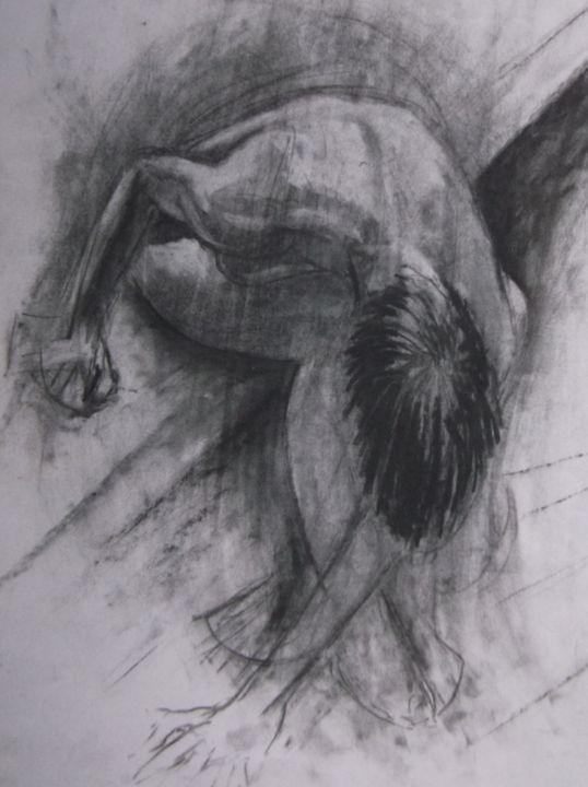life drawing female bending over - woz