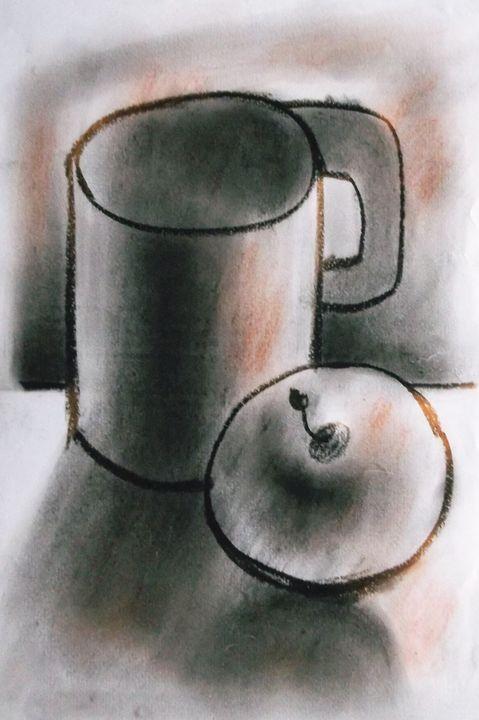 apple and mug - woz