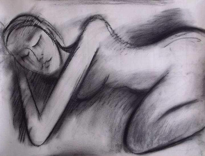 sleeping woman, life drawing - woz