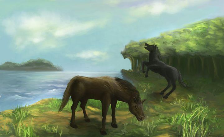 Herding Horses - deta