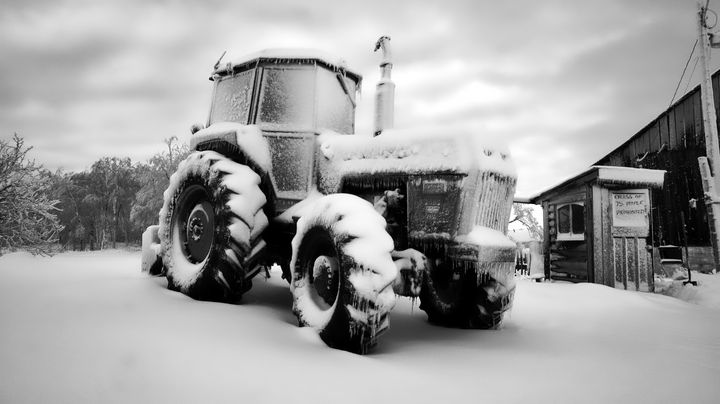 A Very White White Tractor - Sky North Photography