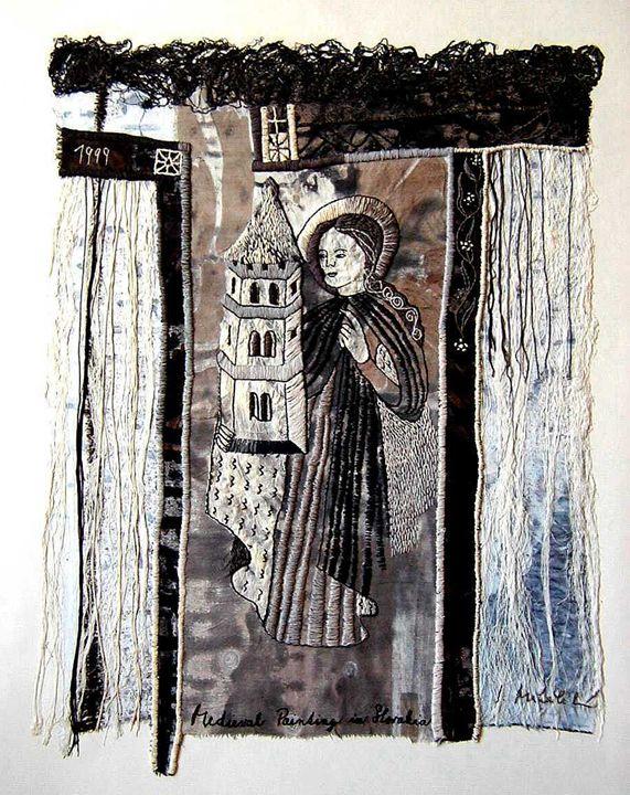 St. Barbara, 60x70 cm - Iveta Mihalikova