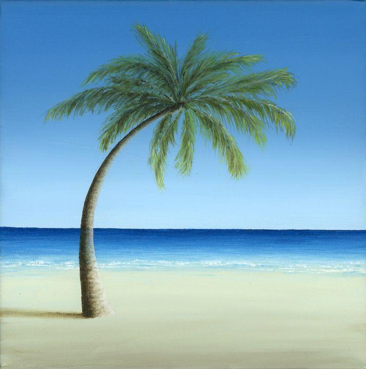 Palm Tree on the Beach - Marlene Llanes