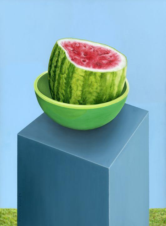 Watermelon on a Stand - Marlene Llanes