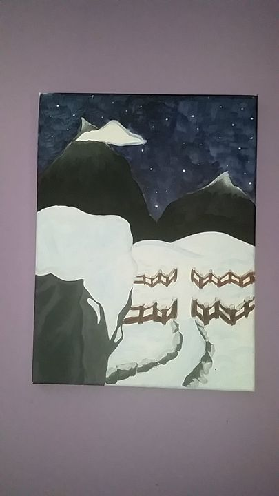 Snowy Distance - My Own Art (for sell)