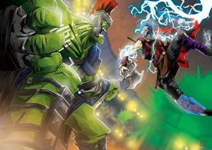 Thor Vs Hulk - NERDROARING