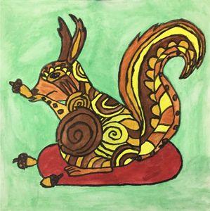 squirrel beautiful canvas