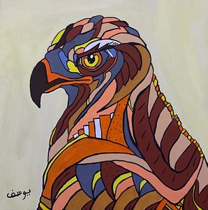 Acrylic painting Falcon