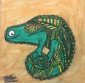 Lizard acrylic painting canvas