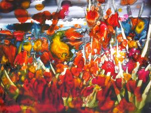 Poppies and flowers - Le Aly di Lia di Donatella Marraoni