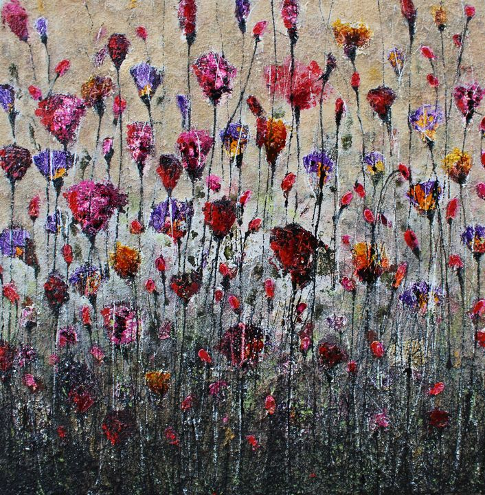 purple love and poppies - Le Aly di Lia di Donatella Marraoni