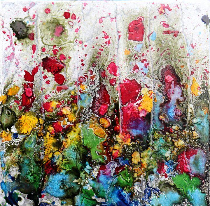 poppies and friends in blue - Le Aly di Lia di Donatella Marraoni