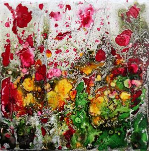 poppies and friends in green - Le Aly di Lia di Donatella Marraoni