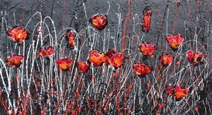 dancing poppies in the night - Le Aly di Lia di Donatella Marraoni