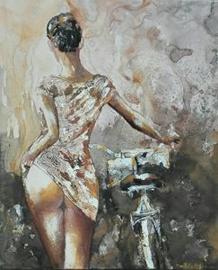 Another woman ...another bike - Le Aly di Lia di Donatella Marraoni