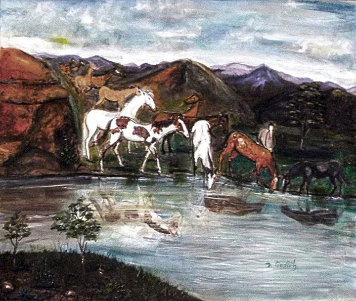 Wild Mustangs - Something Different Arts and Crafts