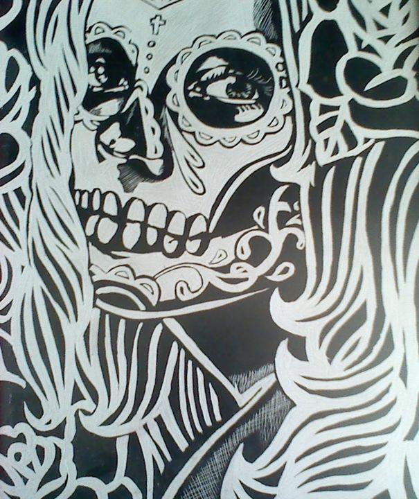 sugar skull - Scratch Art