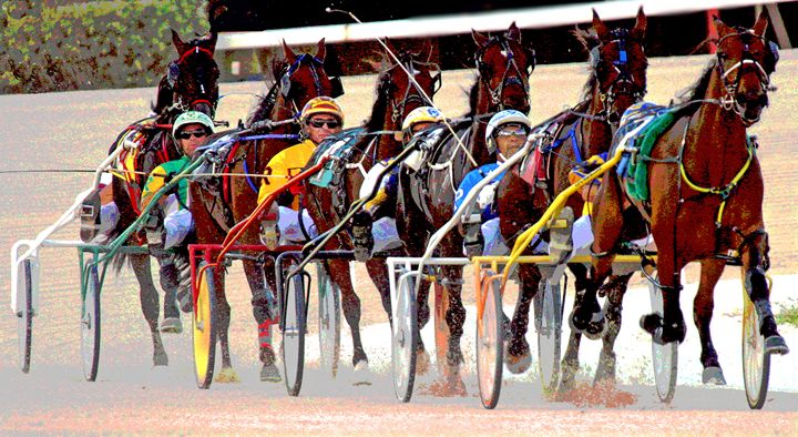 Harness Racing #7 - Larry Singer Fine Art Photography