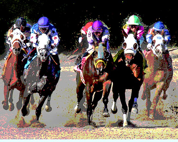 Gulfstream Track Race #1 - Larry Singer Fine Art Photography