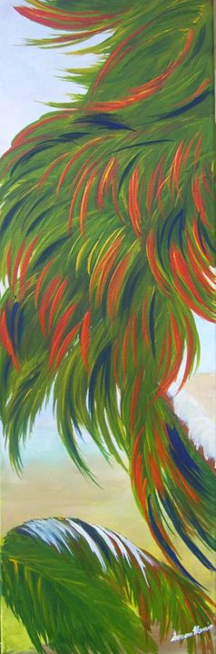 Tropical Painting 3 - Heaven Touching Earth Art by Susan Harris