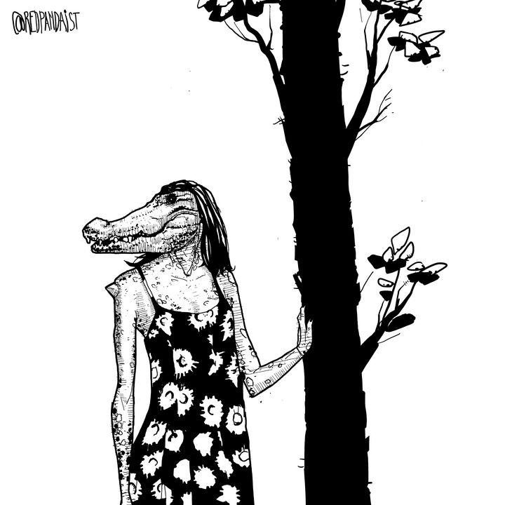 Crocodile woman - Raza Shahid