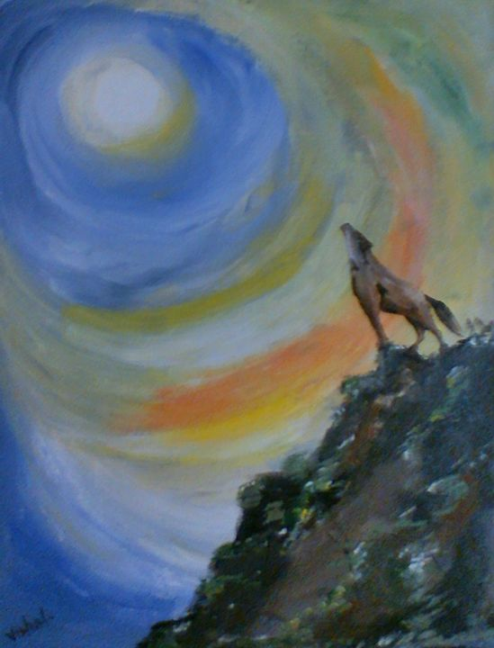 The New Moon - Arty's Art Gallery by Vishal Singh