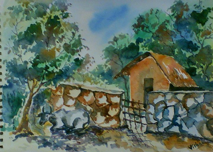 House behind the walls - Arty's Art Gallery by Vishal Singh