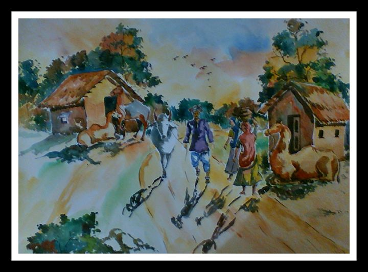 Landscape 11; Rajasthan - Arty's Art Gallery by Vishal Singh