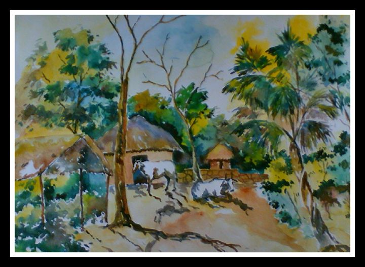 Landscae 12: West Bengal. - Arty's Art Gallery by Vishal Singh