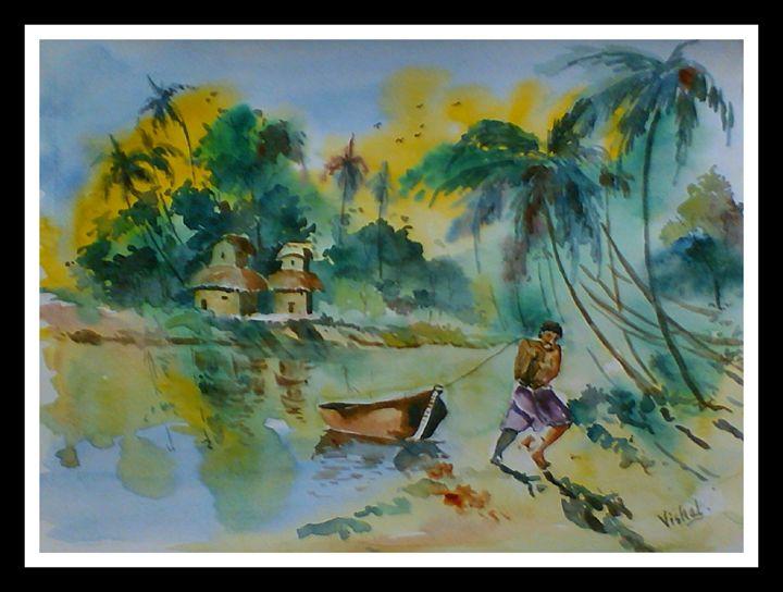 Landscape 14 (Kerala - India) - Arty's Art Gallery by Vishal Singh