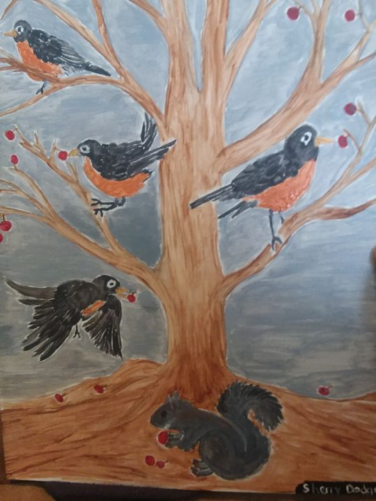 spring time robins - sherry dodge