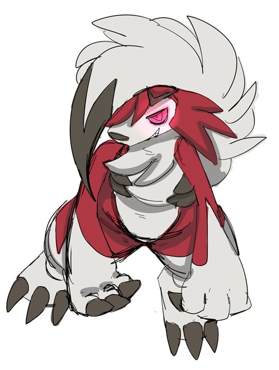 Lycanroc colored sketch - Polaris Furry