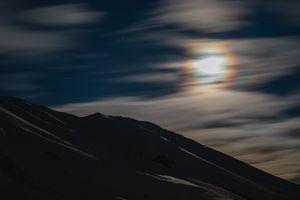 Moon lit Mountain Night