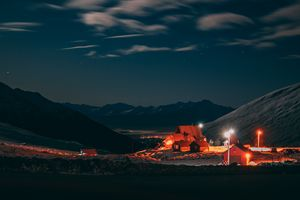 Hatcher Pass at Night