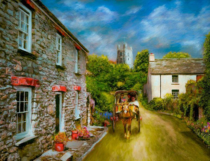Village Cab - Wib Dawson Paintings
