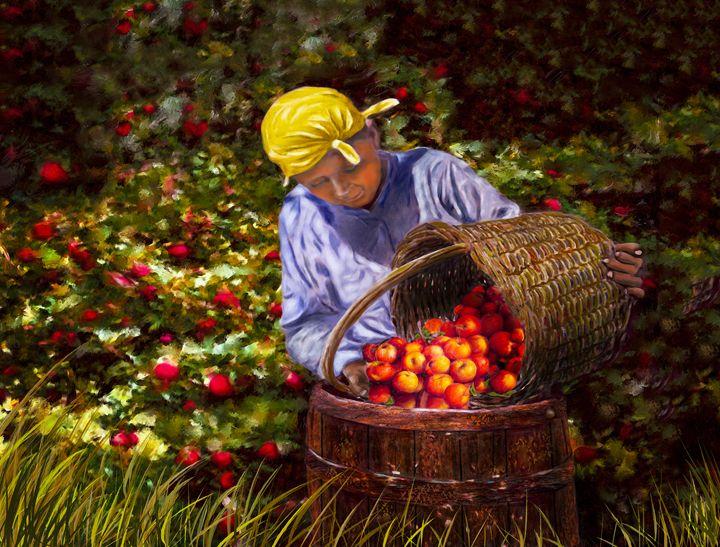 The Apple Picker - Wib Dawson Paintings