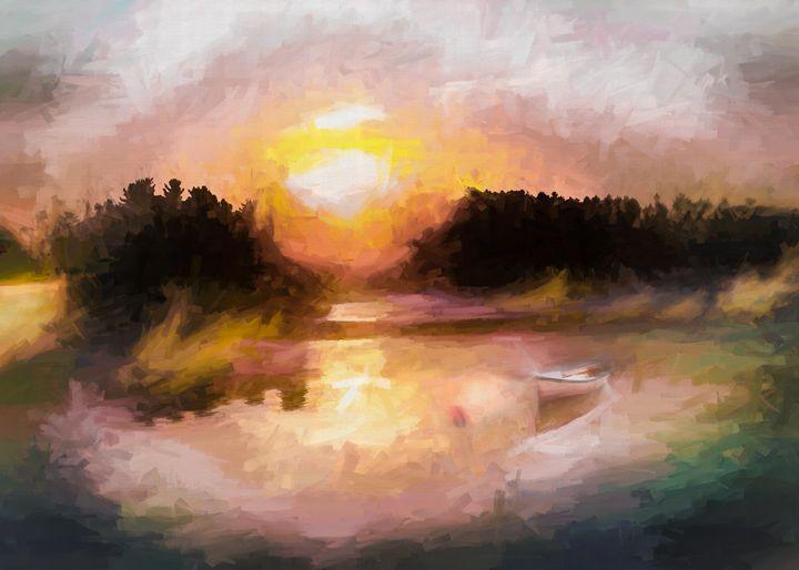 Lake of the Woods Sunrise - Wib Dawson Paintings