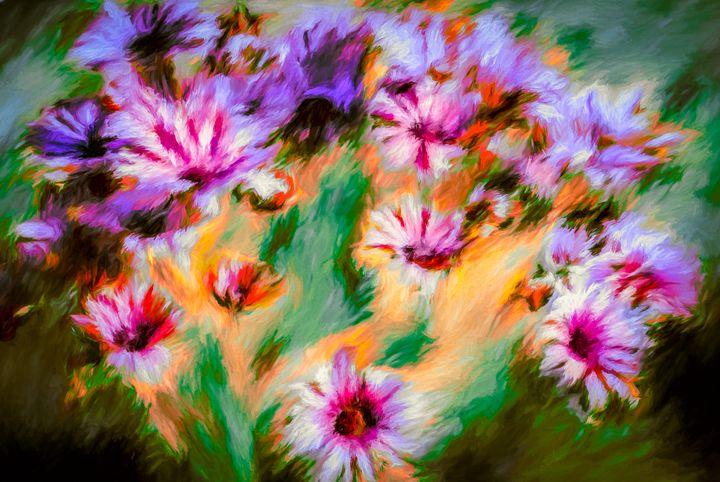 African Daisies - Wib Dawson Paintings