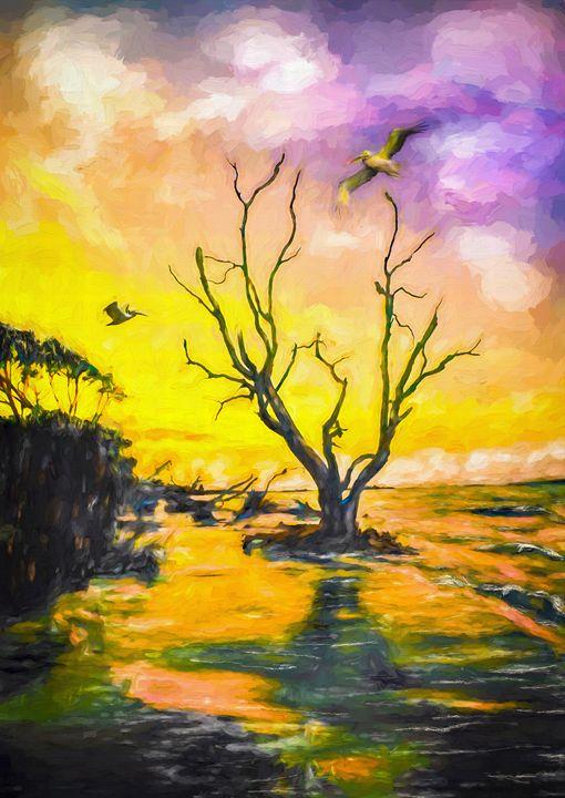 Coastal Sunrise - Wib Dawson Paintings