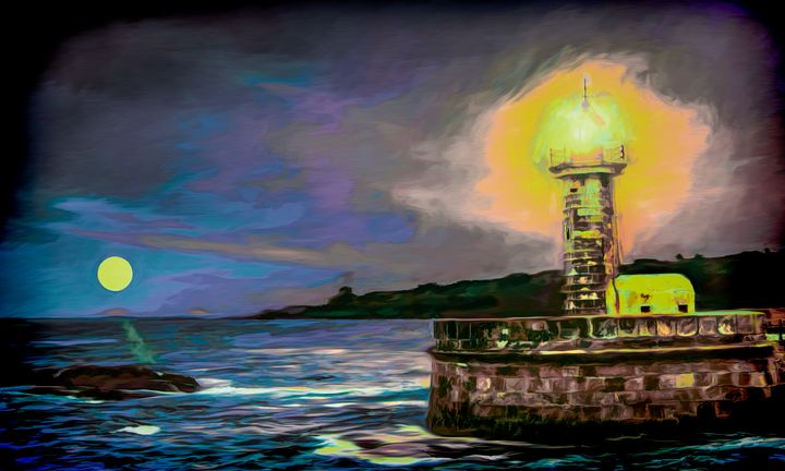 Night Lights - Wib Dawson Paintings - Paintings & Prints