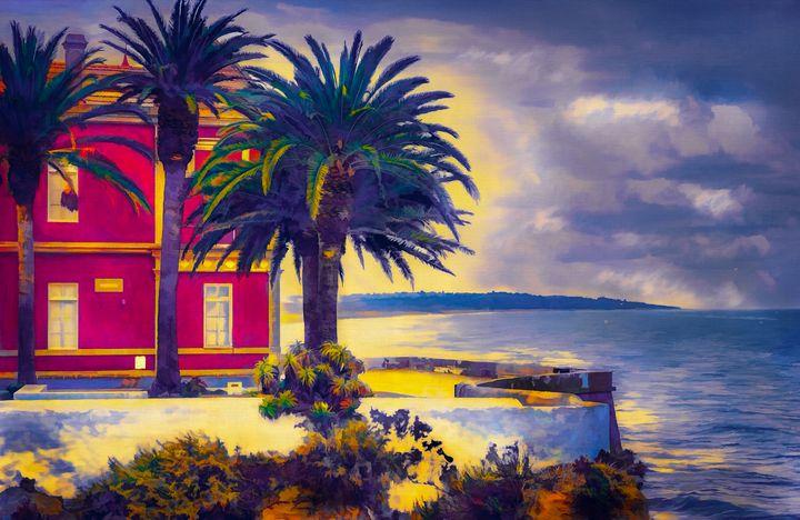 Villa - Early Morning - Wib Dawson Paintings