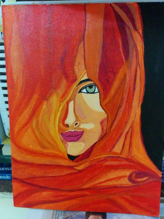 lady in veil - shwetaarts