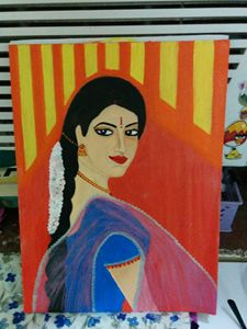 woman with dupatta