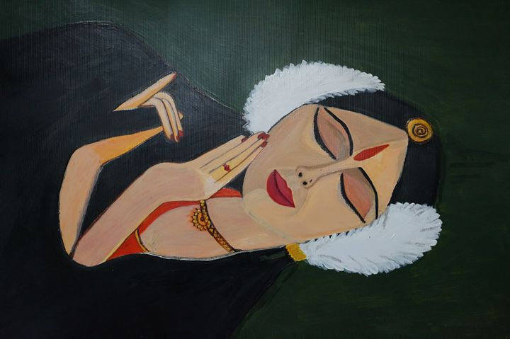 lady in traditional dress - shwetaarts