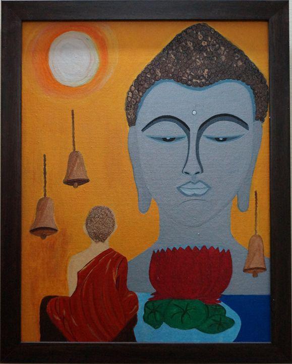 buddha n monk - shwetaarts