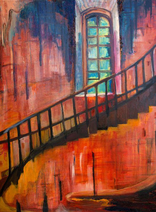 Lighthouse Staircase - Liz Bronson