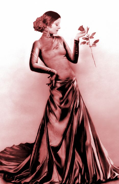Myrna Loy - Spanish Rose - Red - Ision Fantasy Artworks