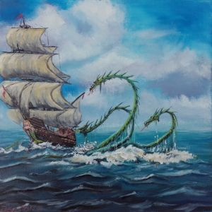 encounter with hydra - Deaton tonic paintings